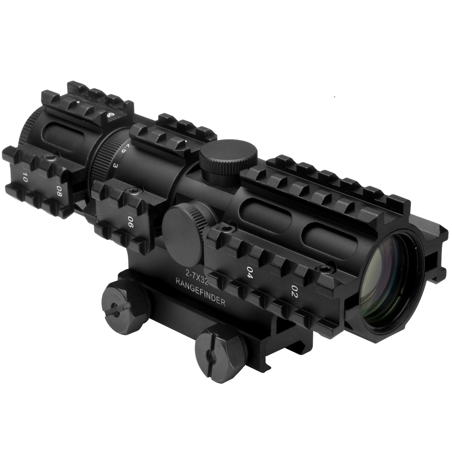 Ncstar Tri-Rail Series 2-7X32 Compact Rifle Scope