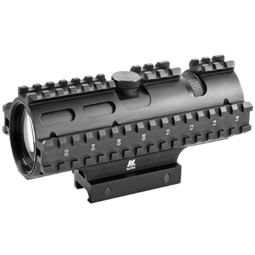 Ncstar Tri-Rail Series 3-9X42 Compact Rangefinder Rifle Scope
