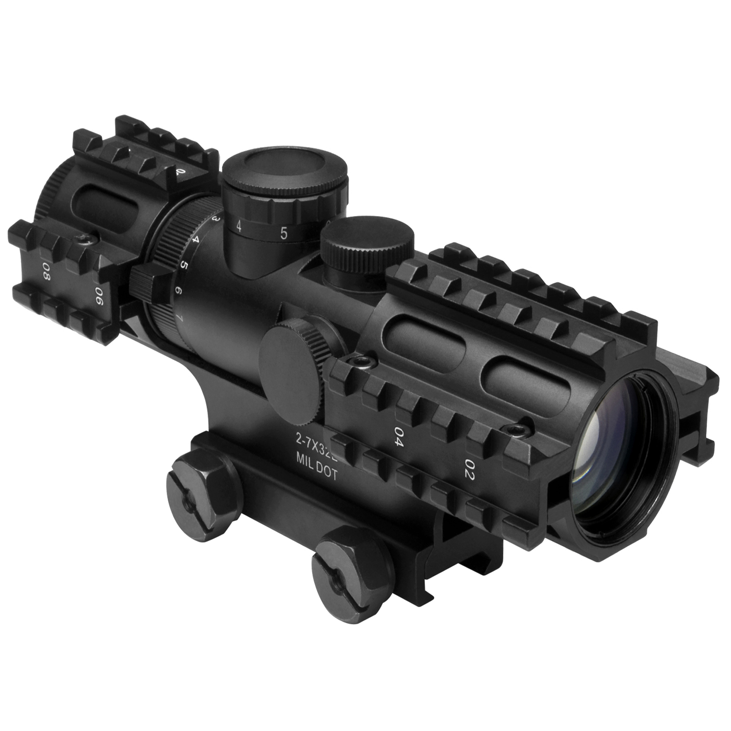 Ncstar Tri-Rail Series 2-7X32 Rifle Compact Scope