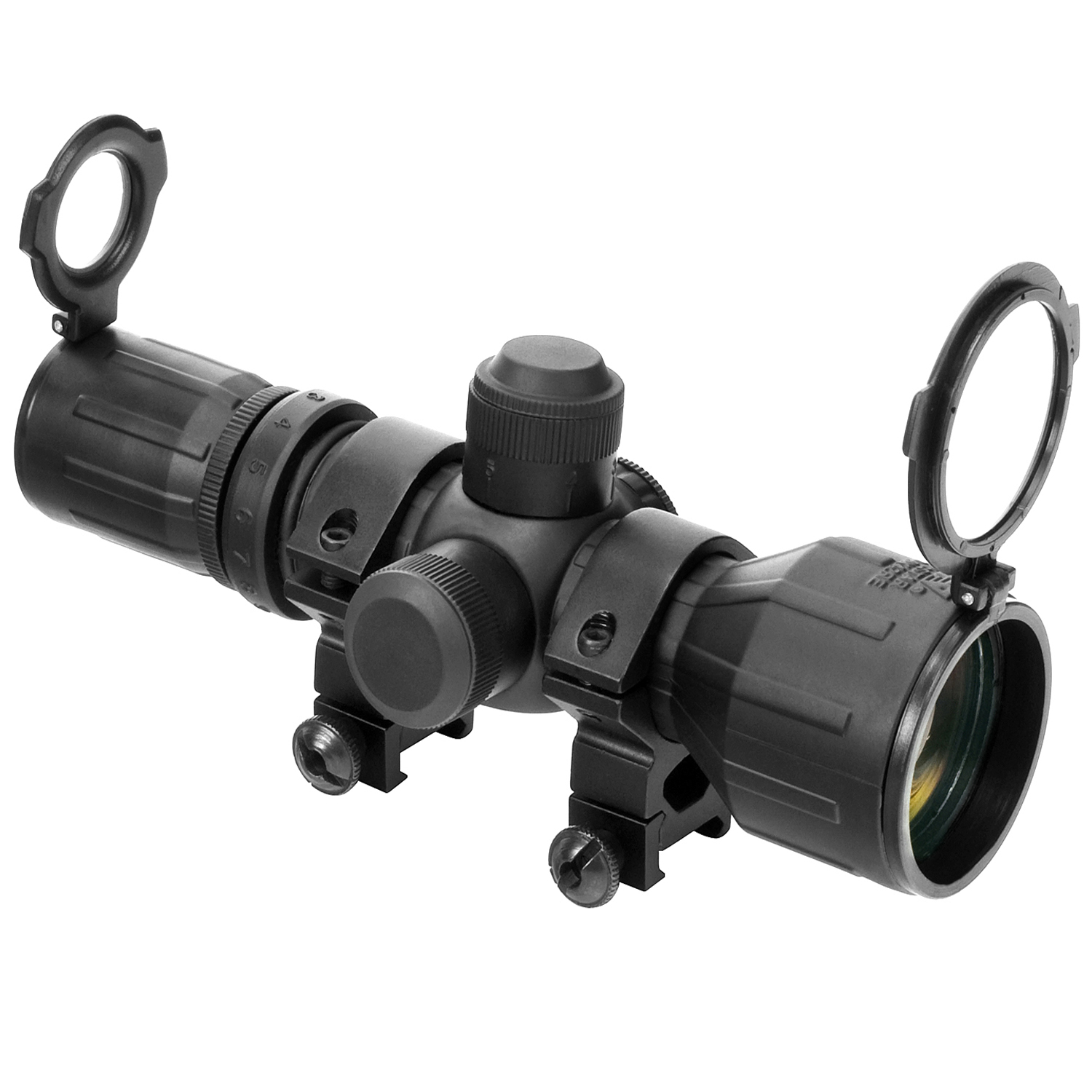 Ncstar Compact Red/Green Illuminated 3X9x42 Rubber Coated Scope