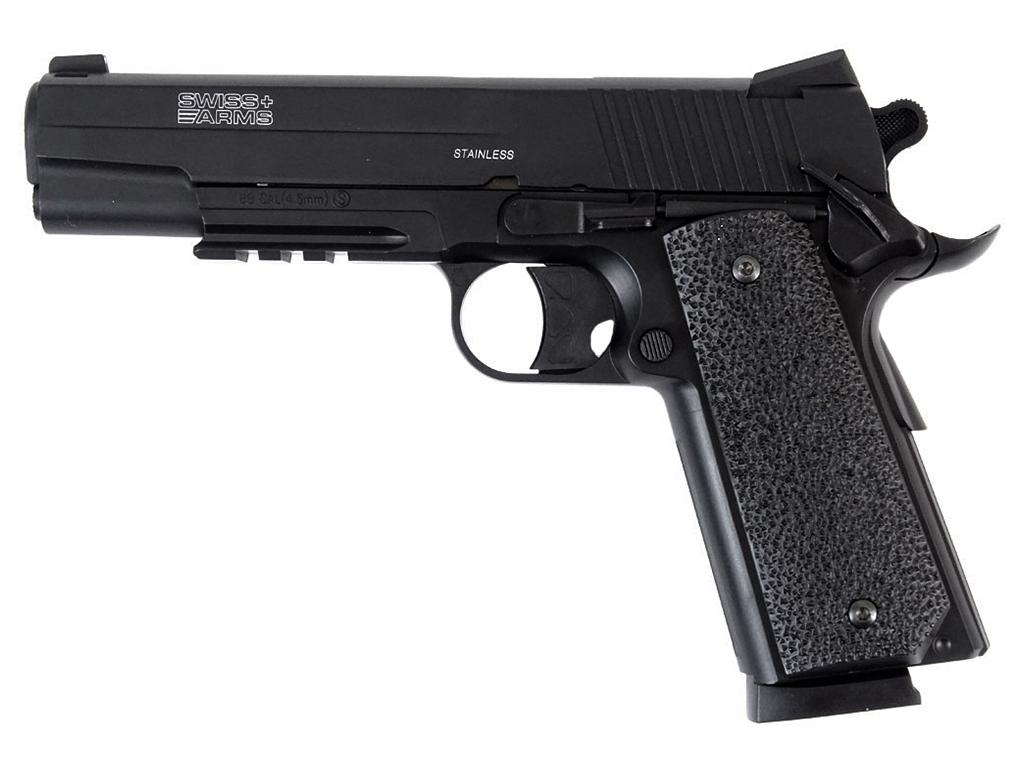 Cybergun Swiss Arms 1911 CO2 NBB Steel BB gun