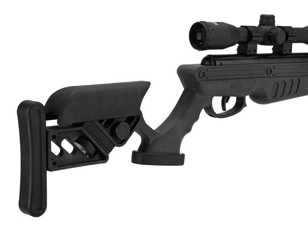 Swiss Arms TG-1 Break Barrel 4 5mm Airgun Rifle with 4x32 Scope & Mount