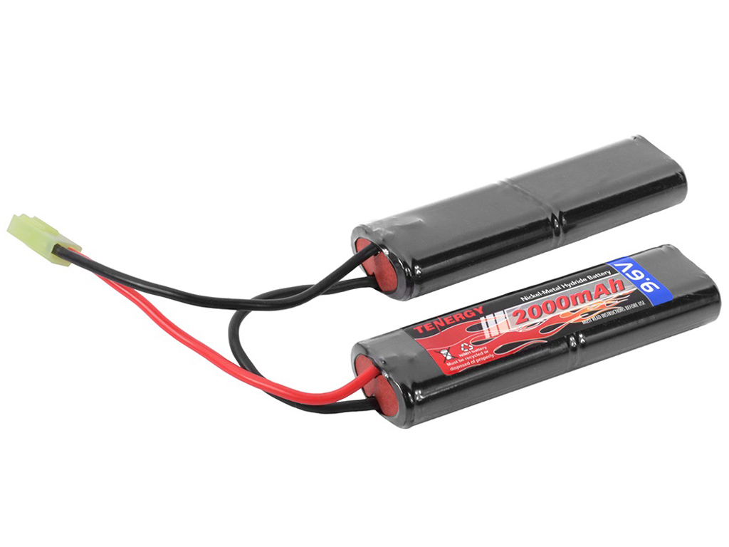 Tenergy 9.6V 2000mAh Nunchuck NiMH Airsoft Battery Packs