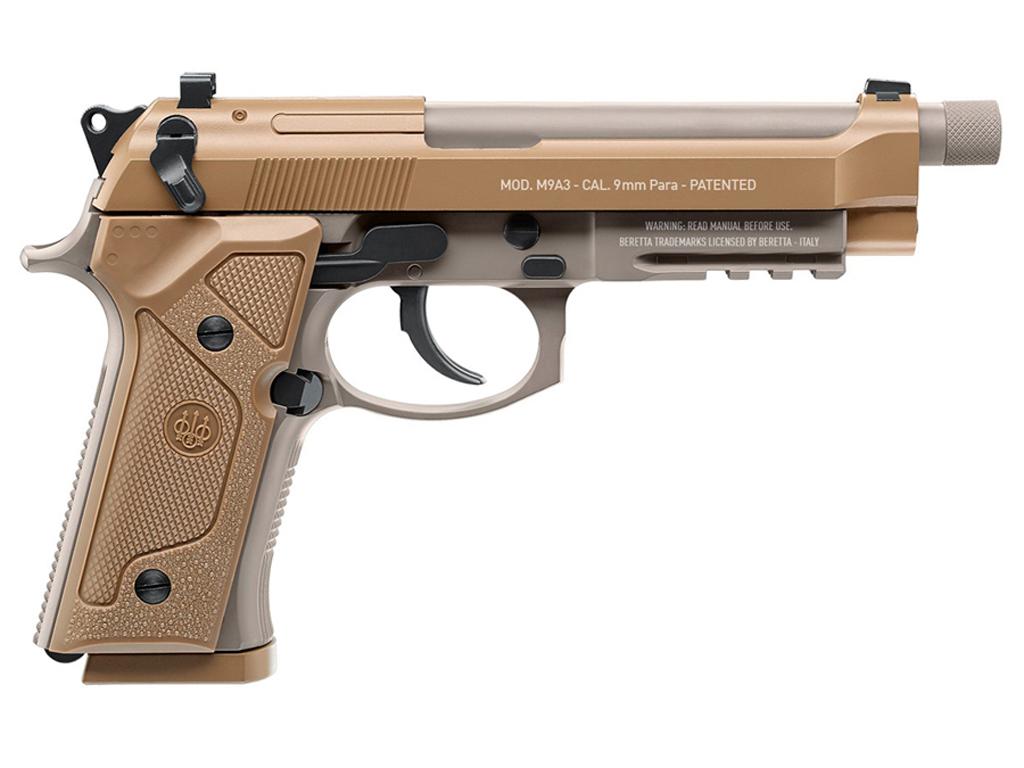 Beretta M9A3 Full Auto .177 Cal 18rd Steel BB Pistol - CO2