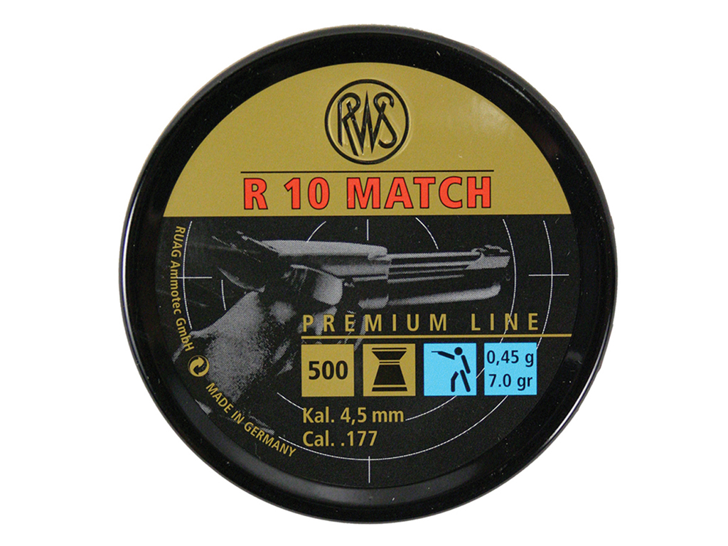 RWS R10 Match .177 Pellets - 500pc