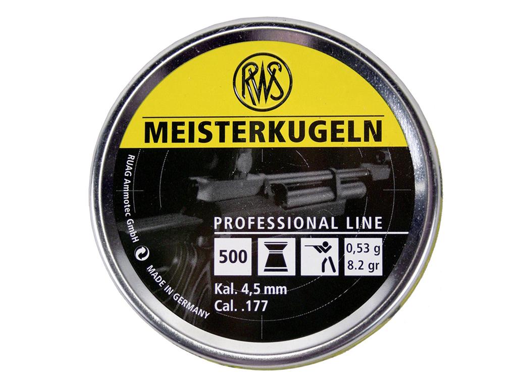 RWS Meisterkugeln .177 Cal Wadcutter Pellets - 500ct