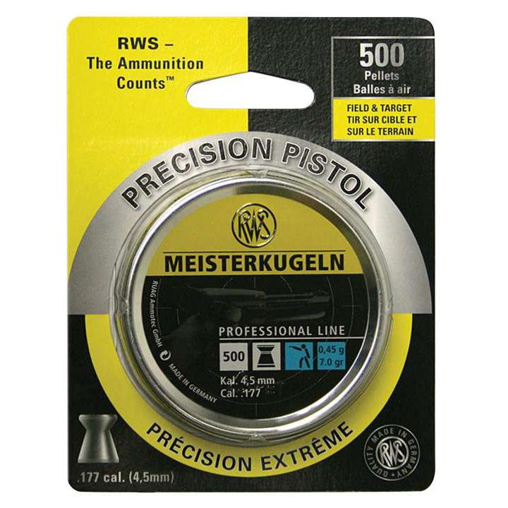 RWS Meisterkugeln 0.45 .177 Cal Pellets 500-Pack