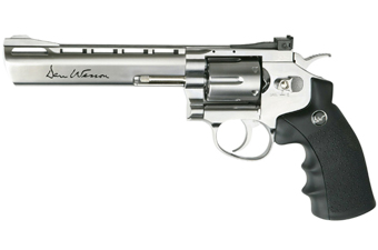 Dan Wesson 6 Inch silver CO2 Airsoft Revolver - 453 FPS