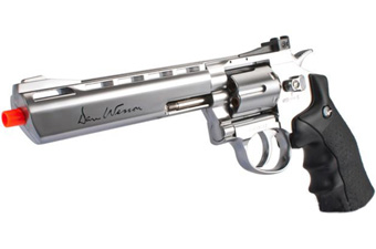Dan Wesson Silver 6 Inch Low Power Airsoft Revolver