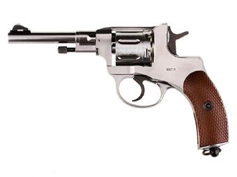 Gletcher Steel Pellet Revolver CO2 4.5mm Pellet Pistol Silver
