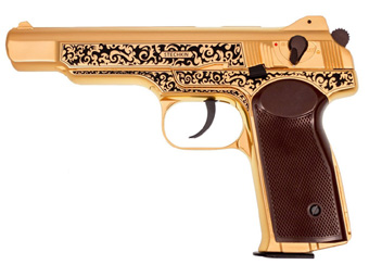 Gletcher Stechkin Gold Blowback CO2 BB Pistol