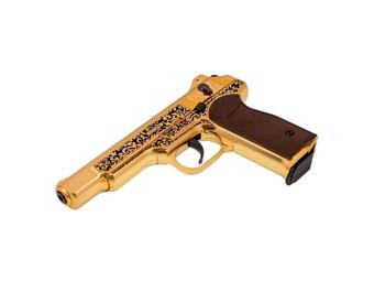 Gletcher Stechkin Gold Blowback CO2 BB Pistol