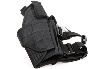 Black Drop Leg Tornado Leg Holster - Left Leg