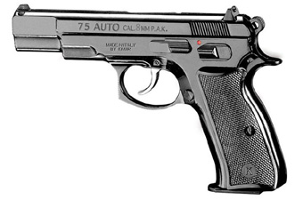 CZ 75 8mm Blank Gun - Blued Finish