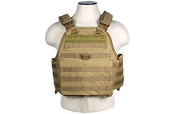 Ncstar Digital Tan Plate Carrier Vest