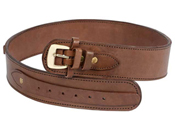 Western Justice .38-Cal Loops Gun Leather Belt - 2.5 Inch Wide