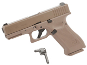 Glock 19X CO2 Blowback 4.5mm BB Pistol - Coyote Tan