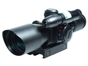 2.5-10x40 Dual Illuminated Mil-Dot Rifle Scope w/ Laser