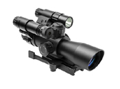 Ncstar Total Targeting System P4 Sniper Scope Green Laser Flashlight