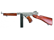 King Arms M1A1 Silver Thompson HI Grade Airsoft Rifle